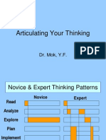 Articulating Your Thinking to Students