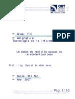 UNIDADES DE MEDICION USADAS EN TELECOMUNICACIONES - TI U1v1 7