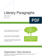 literary paragraphs lesson ace