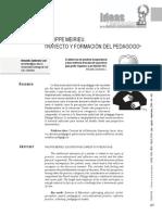 Philippe Meirieu Transformacion Pedagogica