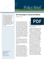 New Technologies in Security and Defense