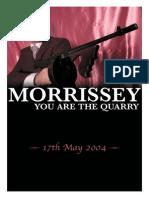 Morrissey - Hoja promocional de you are the quarry.pdf