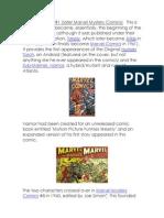 Marvel Comics.docx