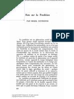 Dufrenne-Note Sur La Tradition