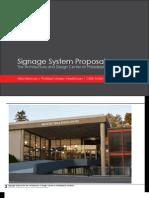 Signage Proposal - The Architecture & Design Center