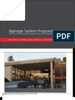 Signage Proposal - The Architecture & Design Center
