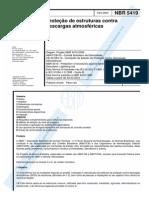 NBR 05419 - 2001 - Proteção de Estruturas Contra Descargas Atmosféricas.pdf