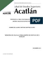 DISEÑO DE EDIFICIO DE 4 NIVELES SAP2000.doc