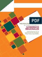 Institucionalidad en materia de diálogo, prevención y gestión de conflictos sociales en gobiernos regionales. Sistematización de las experiencias de Arequipa, Piura, Puno y San Martín.