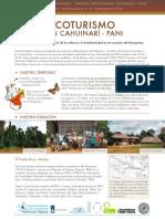 Ecoturismo. PNN Cahuinarí - PANI. Una estrategia de conservación de la cultura y la biodiversidad en el corazón del Amazonas.