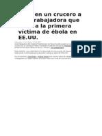 Aíslan en un crucero a una trabajadora que trató a la primera víctima de ébola en EE.doc