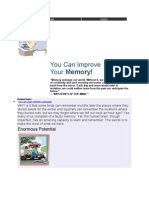 You Can Improve Your Memory!