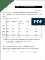 Data Interpretation Test