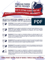 A Conservative's Voting Guide - November 4th Amendments