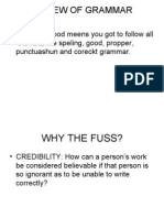 Review of Grammer