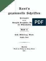 Kants Metphysik der Sitten [1907 Auflage]