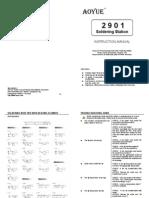 Aoyue 2901 Manual