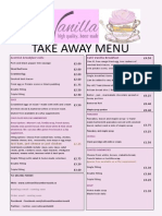 cafe vanilla takeaway menu 2014