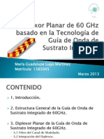 Diplexer Planar de 60GHz basado en la Teconolgía de Guia de Onda con Sustrato Integrado.pptx