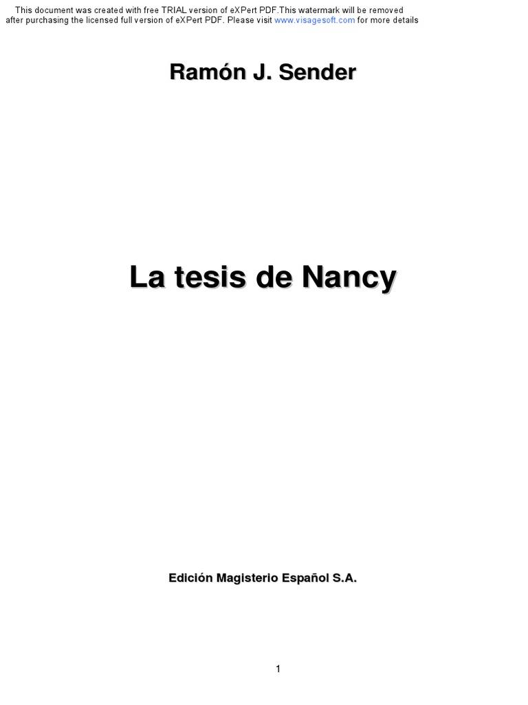 La tesis de Nancy. Ramon J. Sender.pdf