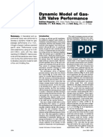 Dynamic Model of GasLift Valve Performance