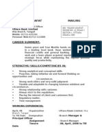 CV of Md. Yesin Arafat