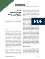 Betancourt, Modelo transdisciplinario para inv en S,. Pública, 2013.pdf