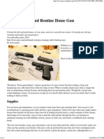 Gun Cleaning and Routing Home Gun Maintenance - Grit