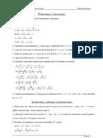 Ejercicios de álgebra en PDF