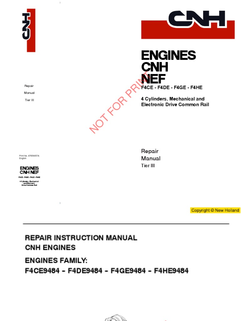 Case New Holland Kobelco Iveco Komatsu F4CE F4DE F4GE F4HE Service Repair  Manual For Engine Overhaul ( Mechanical Injection and Electronic Common  Rail ).pdf ...