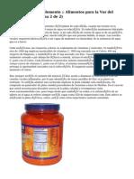 Nutrición y Suplemento :