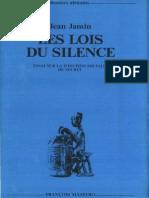 JeanJamin-1977_halshs00376244_Silence.pdf
