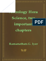 Astrology Hora Science Two Important Chapters
