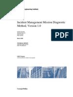 Incident Management Mission Diagnostic Method, Version 1.0