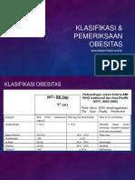 Klasifikasi dan Pemeriksaan Obesitas