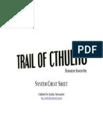 Trail of Cthulhu Cheat Sheet