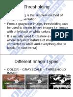 3 Image Thresholding