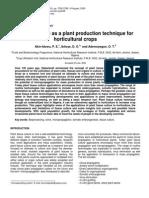 Tissue Culture as a Plant Production Technique
