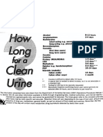 how long for a clean urine?