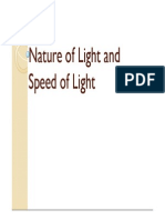 Nature of Light and Speed of Light