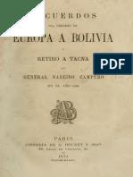 Recuerdos del regreso de Europa a Bolivia y retiro a Tacna del  General Narciso Campero en 1865.pdf