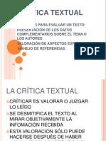 LA CRÍTICA TEXTUAL.ppt