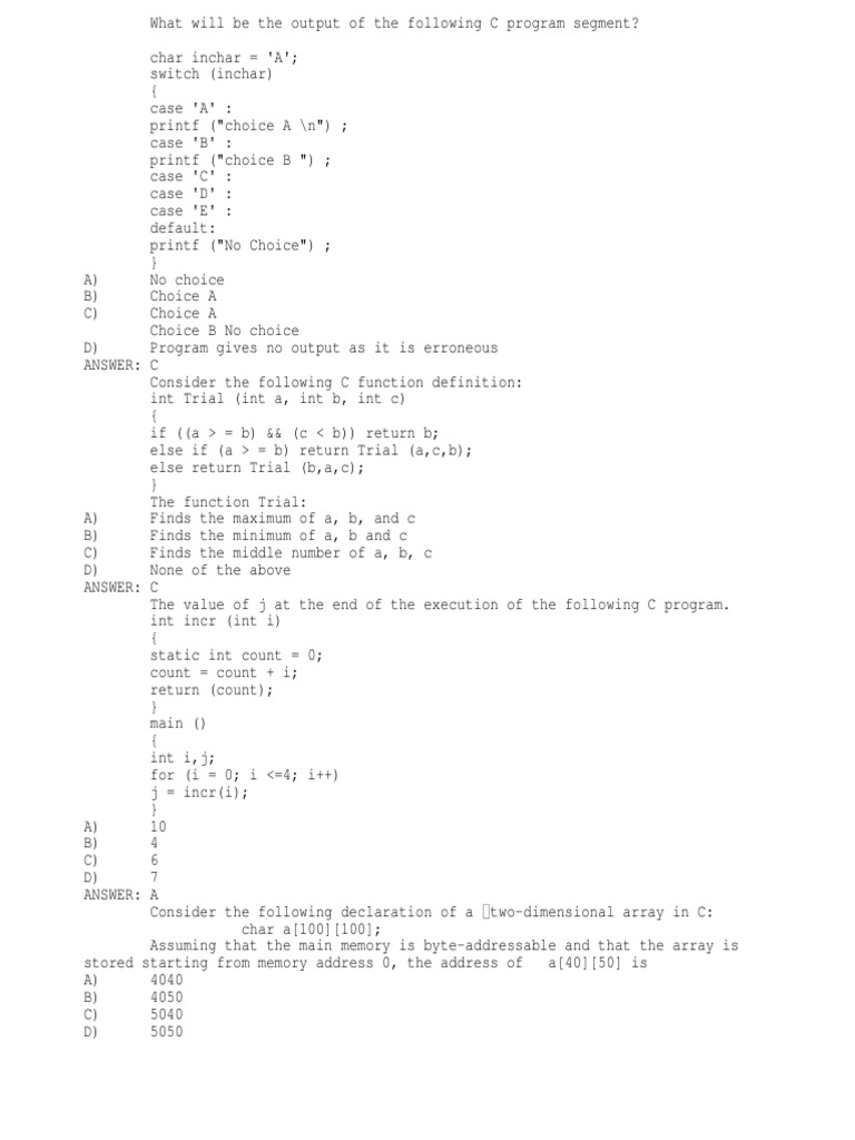 Total c Prog Bits(450) | C (Programming Language) | Array