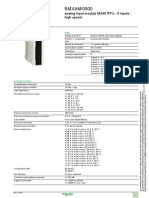 Modicon M340 Automation Platform BMXAMI0800 8 AI NonIsolated