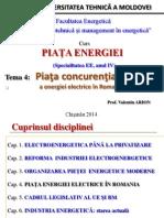 Tema 4 Piata Elergiei Electrice in Romania