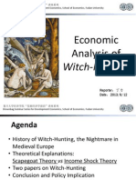 Economic Analysis of Witch-Hunting