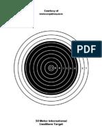 50 Meter Isu Target