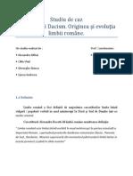 Studiu de caz latinitate si dacism PTTR