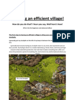 How to Make an Efficient Village Completed