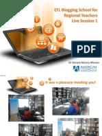 EFL Blogging School Live Session 1